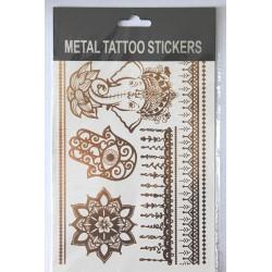 "Флэш-тату Metal Tattoo Stickers ""Ганеша"""