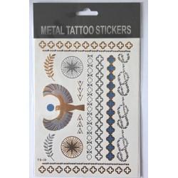 "Флэш-тату Metal Tattoo Stickers ""Птица"" (FT5)"