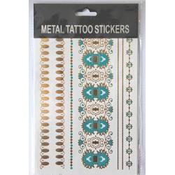 "Флэш-тату Metal Tattoo Stickers ""Бирюза"" (FT6)"