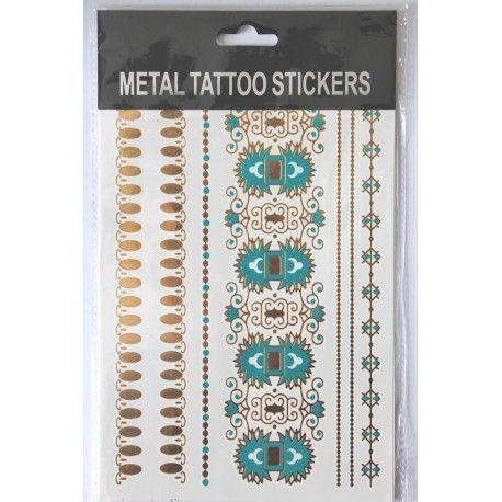 "Флэш-тату Metal Tattoo Stickers ""Бирюза"" (FT6)"