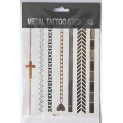 "Флэш-тату Metal Tattoo Stickers ""Браслеты"" (FT7)"