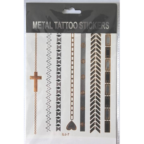 "Флэш-тату Metal Tattoo Stickers ""Браслеты"" (FT7)"