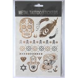 "Флэш-тату Metal Tattoo Stickers ""Череп"" (FT8)"