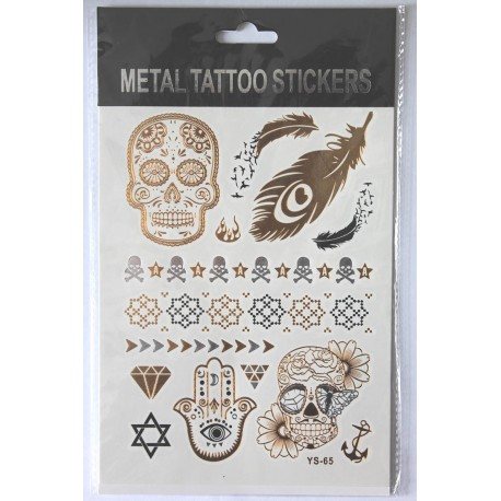 "Флэш-тату Metal Tattoo Stickers ""Череп"" (FT8)"