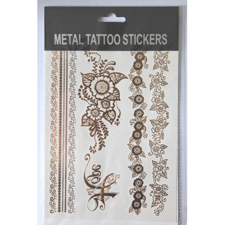 "Флэш-тату Metal Tattoo Stickers ""Цветы"" (FT9)"