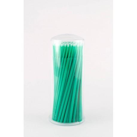 Аппликатор (кисть для  ресниц) зеленый, 100 шт.