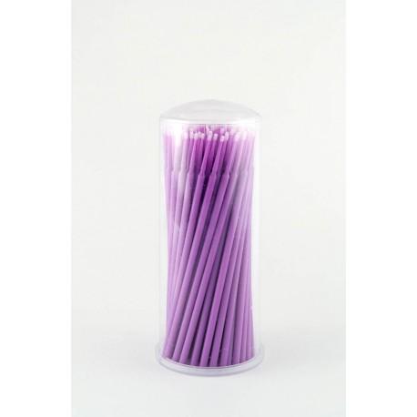 Аппликатор (кисть для  ресниц) фиолетовый, 100 шт.