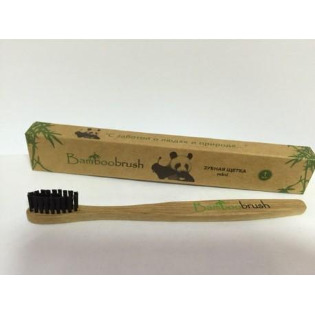Зубная щетка Bamboobrush mini из бамбука (мягкая)