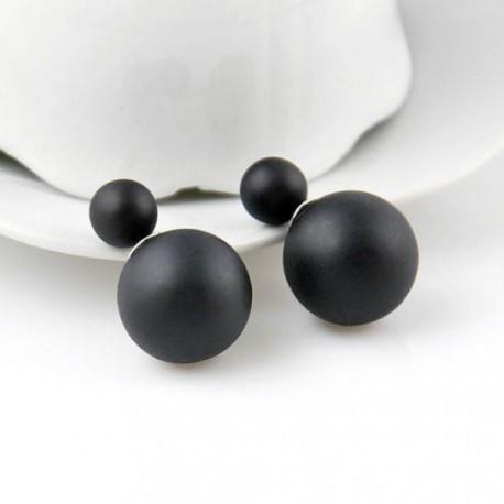 Серьги-шарики в стиле Dior, матовый черный