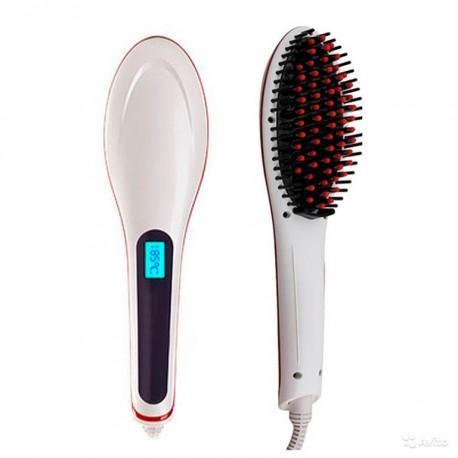 Расческа-выпрямитель Fast Hair Straightener, белая
