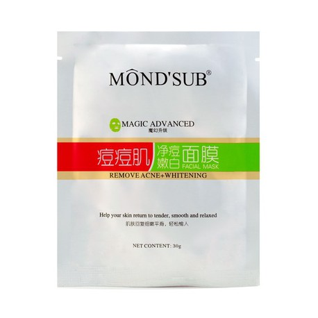 Mondsub Removing Acne Silk Protein Facial Mask