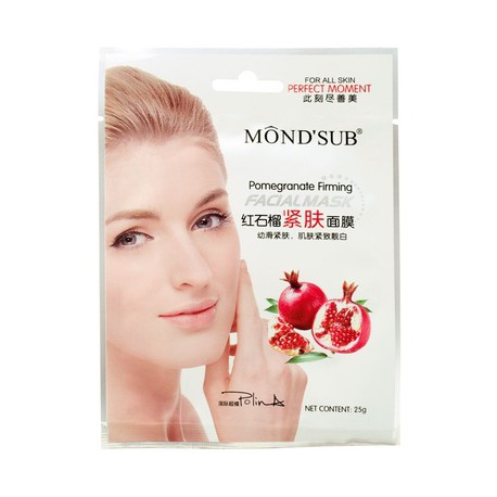 Mondsub Pomegranate Anti-wrinkle Firming Cotton Facial Mask