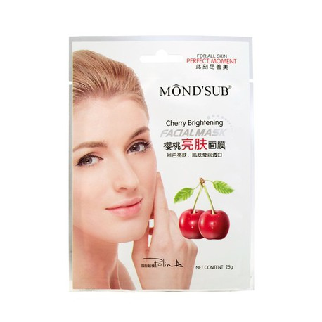 Mondsub Cherry Brightening Facial Mask