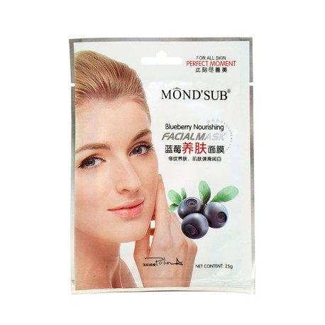 Mondsub Blueberry Nourishing Cotton Skin Facial Mask