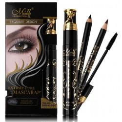 Тушь для ресниц M.n me now generation 2 Extreme Curl Mascara, 4 мл + 2 карандаша для глаз
