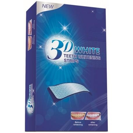 Отбеливающие полоски 3D White Teeth Whitening Strips 30 минут